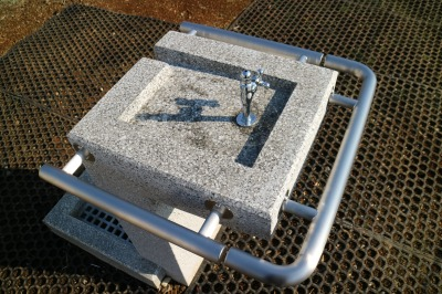 車椅子対応の水道