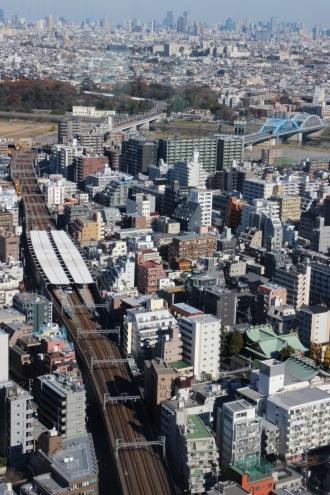 新丸子駅と丸子橋