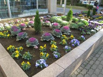 中原区役所のデザイン花壇
