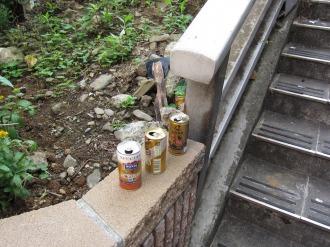 空き缶のゴミ