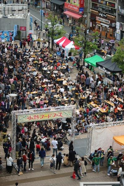 小杉フードフェスが開催されたこすぎコアパーク