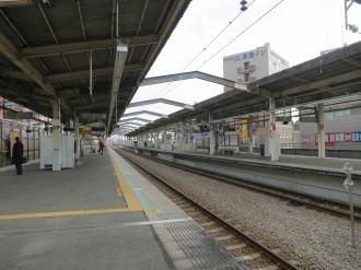 JR武蔵中原駅ホーム