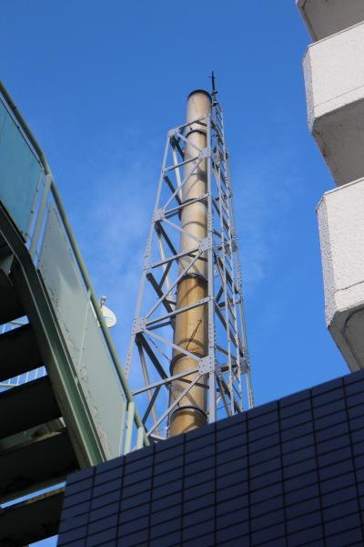 「丸子温泉」の煙突