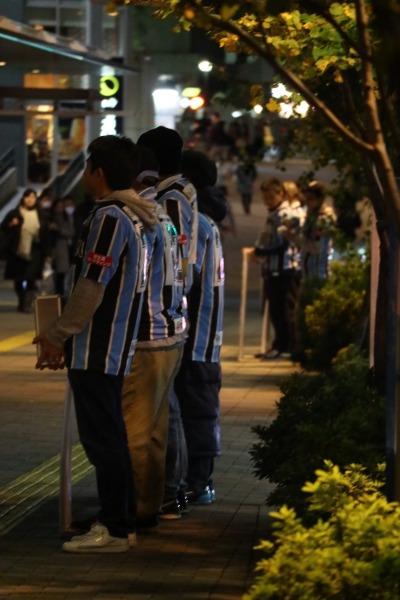 ロータリー外側での街頭募金活動