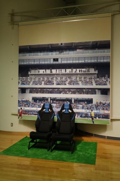 スタジアムの選手シート