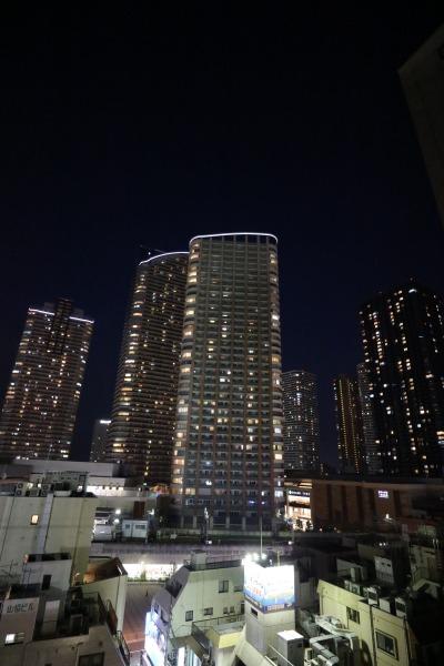 屋上から見た武蔵小杉駅周辺