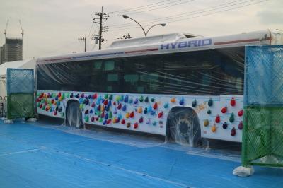 東急バス協力による「Paint it Blue Bus!!」