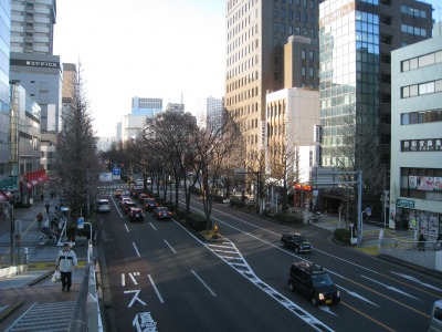 優勝パレードが実施される川崎市役所前の大通り