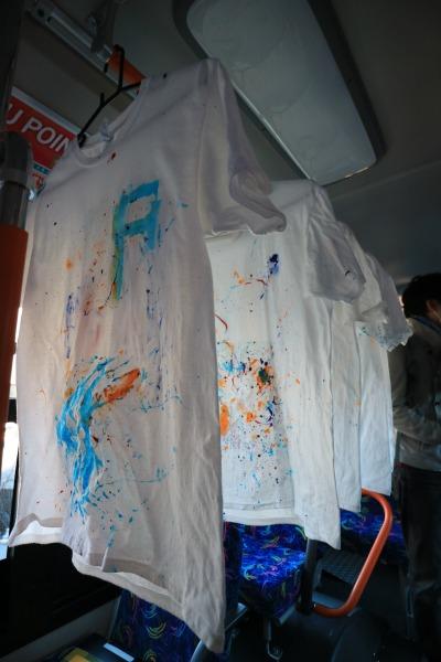 バス内の展示