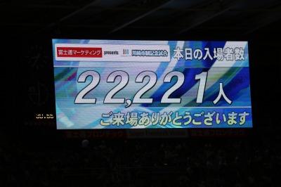 22,221人の来場者