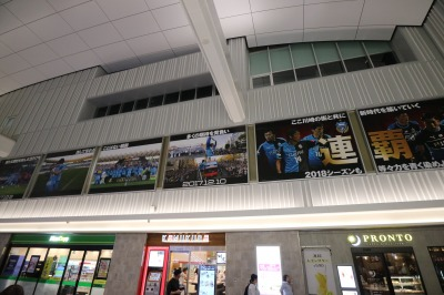 ホール上部の展示