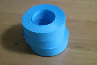 青覇テープは芯を抜いて