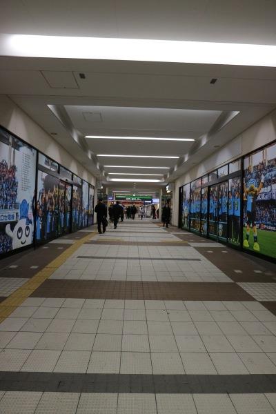 東急武蔵小杉駅南口の連絡通路