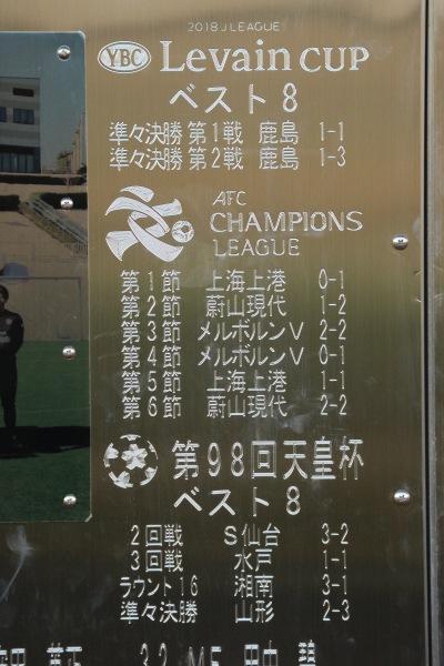 ルヴァンカップ、アジアチャンピオンズリーグ、天皇杯の戦績