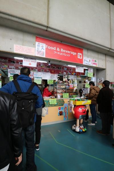スタジアム内の売店