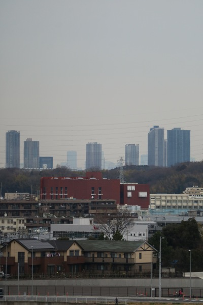 日産スタジアムから見える武蔵小杉