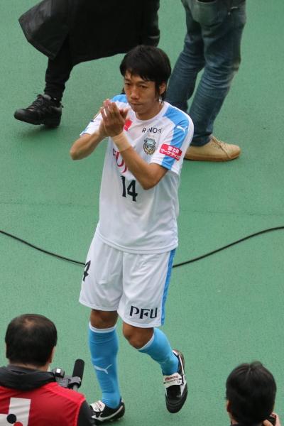 前を向く中村憲剛選手