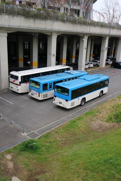 アウェイツアーの川崎市バス