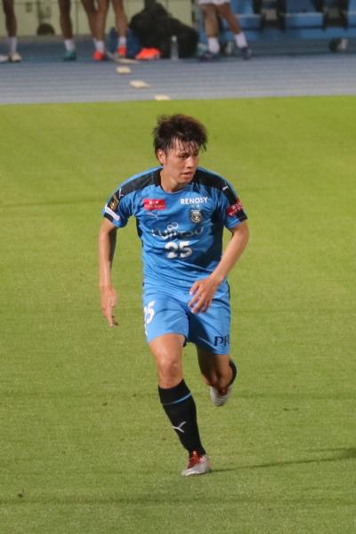 数少ない連戦スタメンとなった田中碧選手