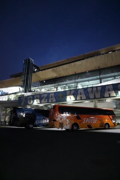 川崎フロンターレvs清水エスパルス戦が開催された等々力陸上競技場