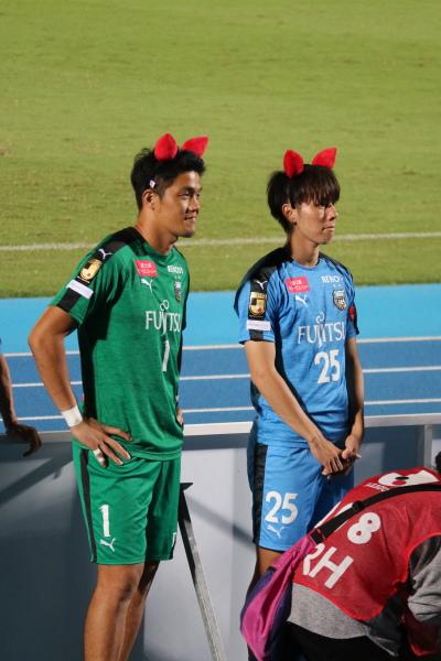 出場機会がなかったチョン・ソンリョン選手、田中碧選手