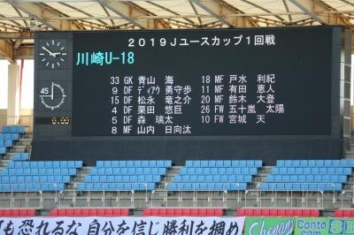 川崎フロンターレU-18スターティングメンバー