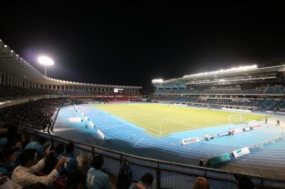 ルヴァンカップが開催された等々力陸上競技場