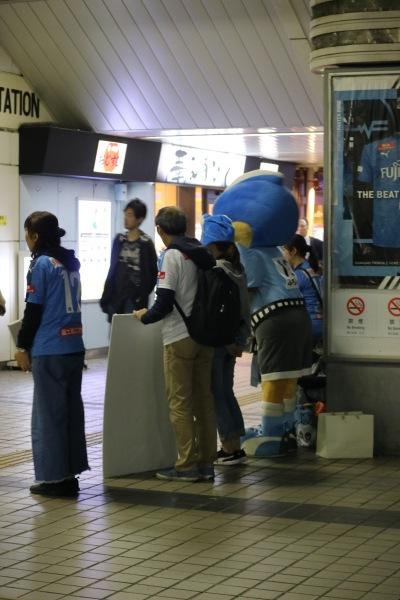 JR武蔵小杉北口の「令和元年台風19号」街頭募金活動