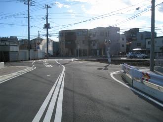 都市計画道路 武蔵小杉駅南口線のカーブ