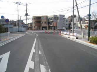 武蔵小杉駅南口線から見たT字路