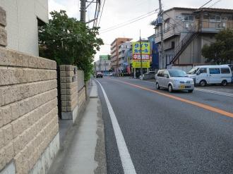 狭隘な府中街道