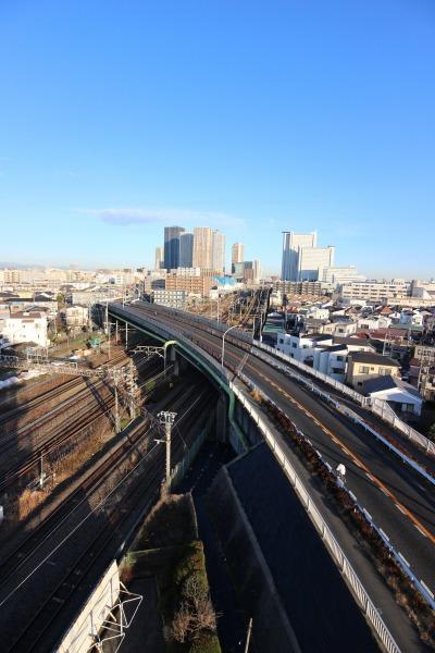 府中街道の「市ノ坪跨線橋」