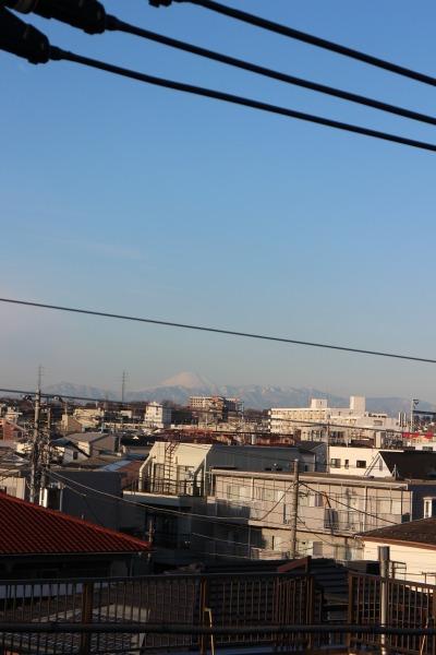 反対側の富士山