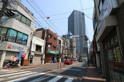 府中街道拡幅が予定される同地区