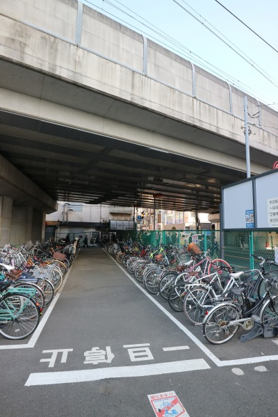 稼働率の高い「TOBUPARK武蔵小杉駅駐輪場」