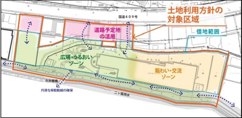 川崎市総合自治会館周辺の新たな土地利用のイメージ