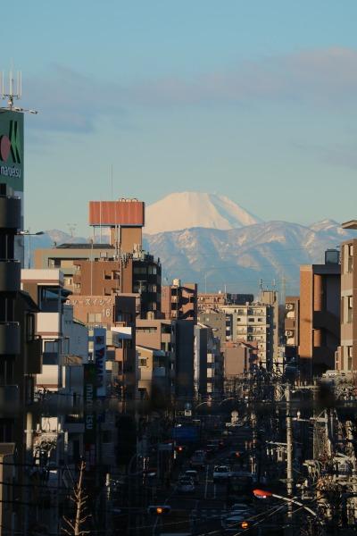 JR武蔵中原駅から見える富士山