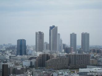 本館20階から見る武蔵小杉の再開発ビル