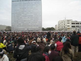 富士通春まつり大抽選会の参加者