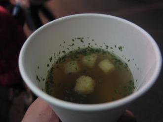 ウェルカムサービスのスープ