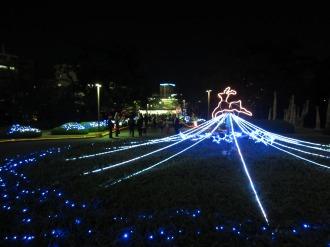 本館前のクリスマスイルミネーション