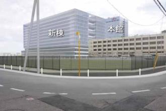 富士通川崎工場新棟のフォトモンタージュ