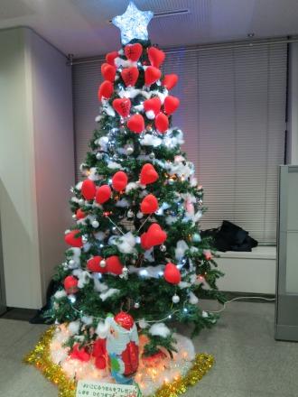 手話部のクリスマスツリー