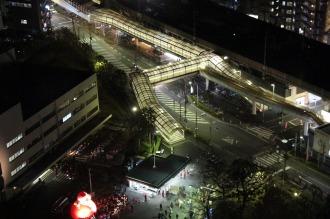 本館20階から見下ろした武蔵中原駅前