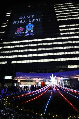 イルミナイト開催中の富士通川崎工場