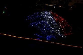 フランス国旗のイルミネーション