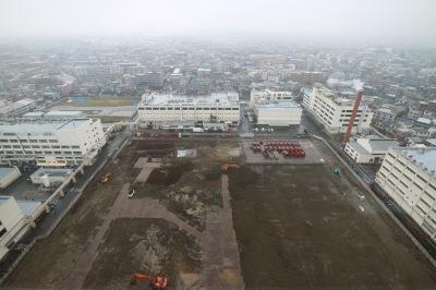本館20階から、新研究棟建設地を望む