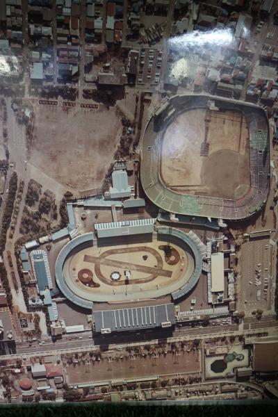 かつての川崎球場の航空写真