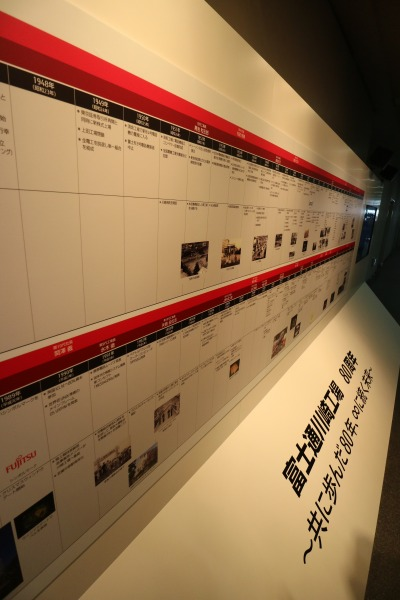 富士通川崎工場80周年記念展示