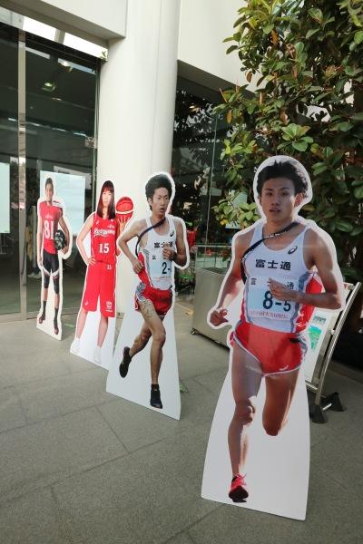 「富士通スポーツ」のパネル展示